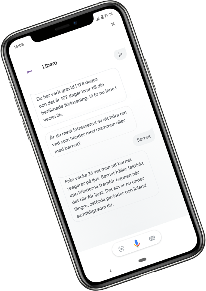 iPhone med Google Assistant